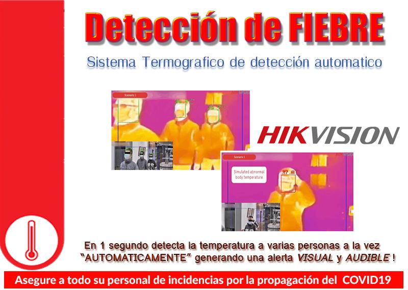 Detecte masivamente cuerpos fuera de limites de temperatura con alarma audible y visual!